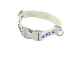 Syltfisch_Hundehalsband_Segel_weiß_blau